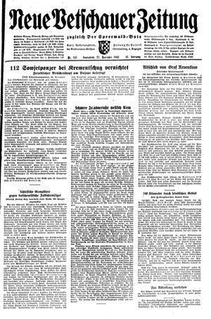 Neue Vetschauer Zeitung vom 27.11.1943