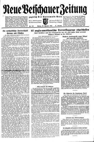 Neue Vetschauer Zeitung vom 29.11.1943