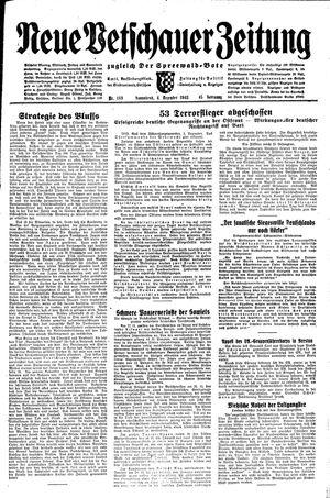 Neue Vetschauer Zeitung vom 04.12.1943