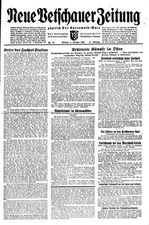 Neue Vetschauer Zeitung vom 08.12.1943