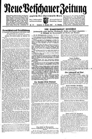 Neue Vetschauer Zeitung vom 18.12.1943