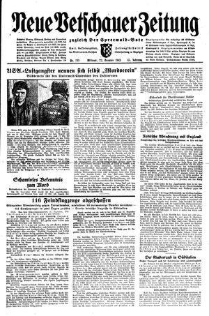 Neue Vetschauer Zeitung vom 22.12.1943