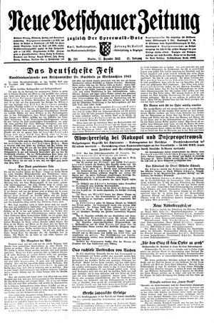 Neue Vetschauer Zeitung vom 27.12.1943