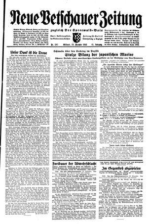 Neue Vetschauer Zeitung vom 29.12.1943