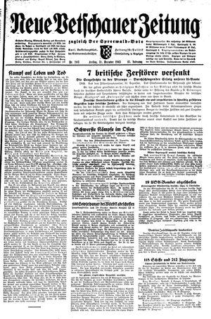 Neue Vetschauer Zeitung vom 31.12.1943