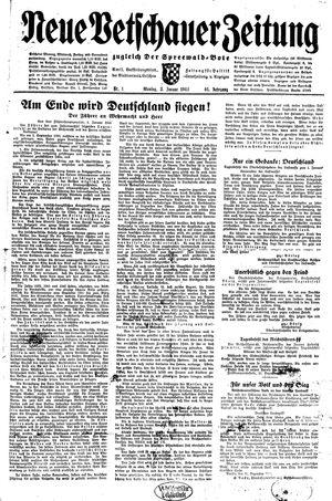 Neue Vetschauer Zeitung vom 03.01.1944