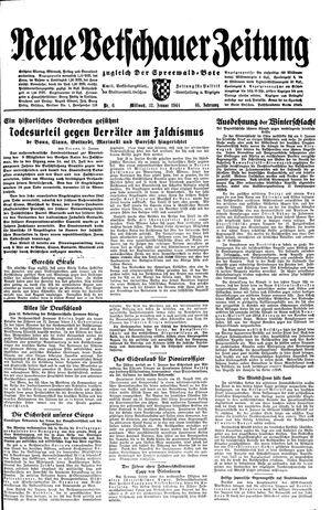 Neue Vetschauer Zeitung vom 12.01.1944