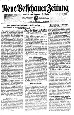 Neue Vetschauer Zeitung vom 21.01.1944
