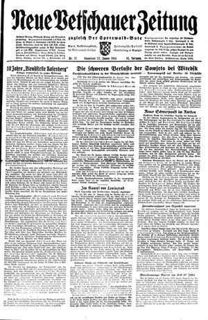 Neue Vetschauer Zeitung vom 22.01.1944
