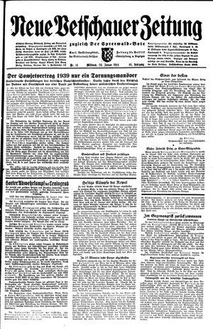 Neue Vetschauer Zeitung vom 26.01.1944