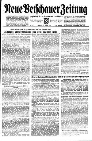 Neue Vetschauer Zeitung vom 31.01.1944