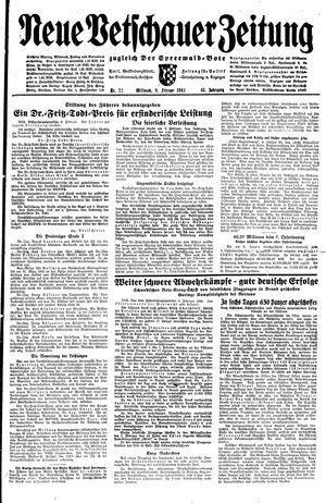 Neue Vetschauer Zeitung vom 09.02.1944