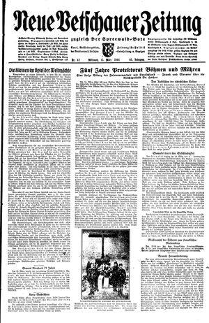 Neue Vetschauer Zeitung vom 15.03.1944