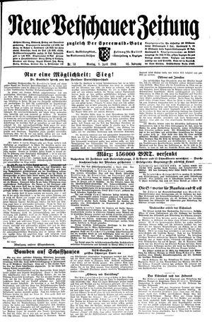 Neue Vetschauer Zeitung vom 03.04.1944