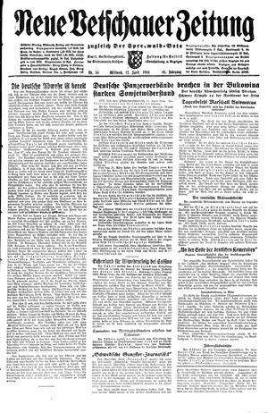 Neue Vetschauer Zeitung vom 12.04.1944