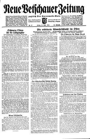 Neue Vetschauer Zeitung vom 14.04.1944