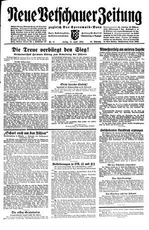 Neue Vetschauer Zeitung vom 21.04.1944