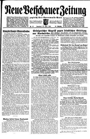 Neue Vetschauer Zeitung vom 22.04.1944