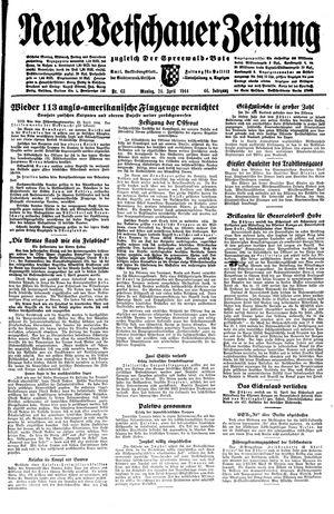 Neue Vetschauer Zeitung vom 24.04.1944