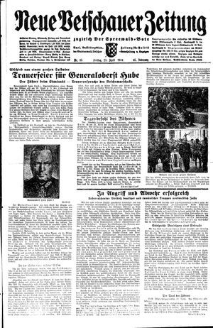Neue Vetschauer Zeitung vom 28.04.1944