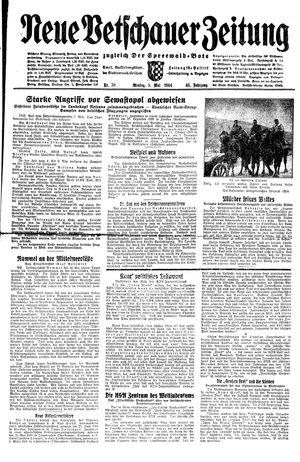 Neue Vetschauer Zeitung vom 08.05.1944