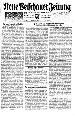 Neue Vetschauer Zeitung vom 17.05.1944
