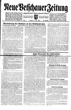 Neue Vetschauer Zeitung on May 20, 1944