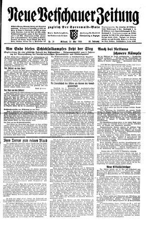 Neue Vetschauer Zeitung vom 24.05.1944