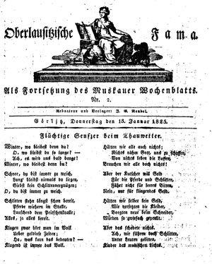 Oberlausitzische Fama vom 13.01.1825