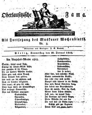 Oberlausitzische Fama vom 20.01.1825