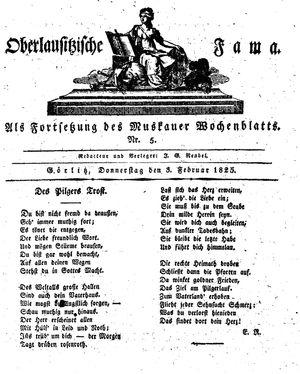 Oberlausitzische Fama vom 03.02.1825