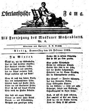 Oberlausitzische Fama vom 10.02.1825