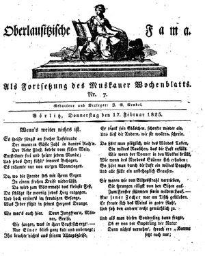 Oberlausitzische Fama vom 17.02.1825