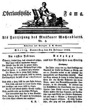 Oberlausitzische Fama vom 24.02.1825