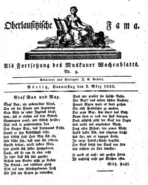 Oberlausitzische Fama vom 03.03.1825