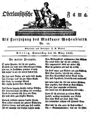 Oberlausitzische Fama vom 10.03.1825