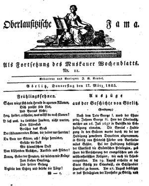 Oberlausitzische Fama vom 17.03.1825