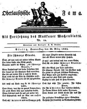 Oberlausitzische Fama vom 24.03.1825