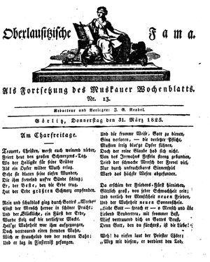 Oberlausitzische Fama vom 31.03.1825