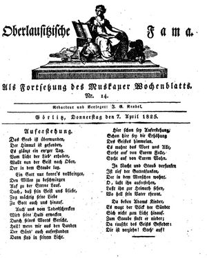 Oberlausitzische Fama vom 07.04.1825