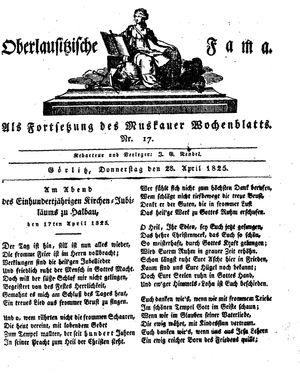 Oberlausitzische Fama vom 28.04.1825