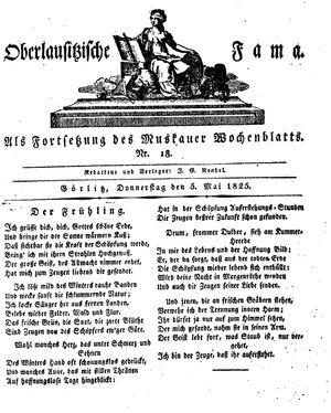 Oberlausitzische Fama vom 05.05.1825