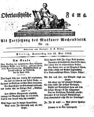 Oberlausitzische Fama vom 12.05.1825