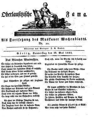 Oberlausitzische Fama vom 19.05.1825