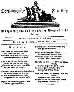 Oberlausitzische Fama vom 26.05.1825