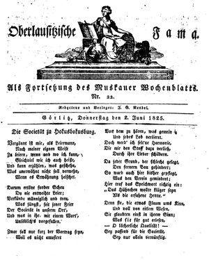 Oberlausitzische Fama vom 02.06.1825