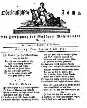 Oberlausitzische Fama vom 09.06.1825