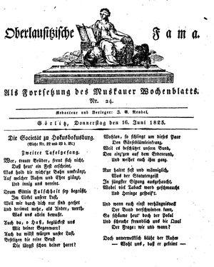 Oberlausitzische Fama vom 16.06.1825