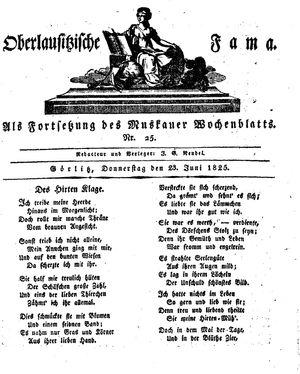 Oberlausitzische Fama vom 23.06.1825