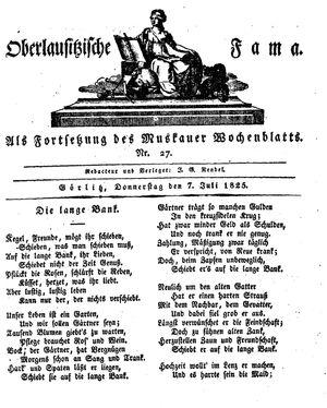 Oberlausitzische Fama vom 07.07.1825
